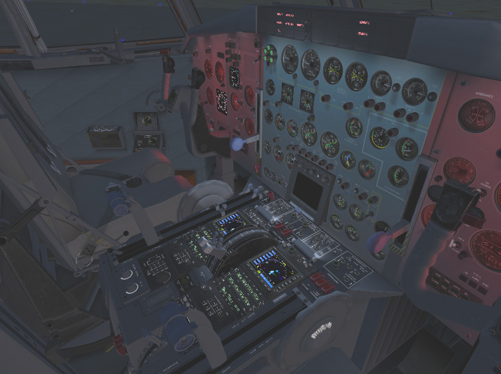 First Officer Seat with UV Lights