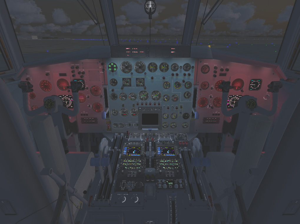 Flight Engineer Seat with UV Lights