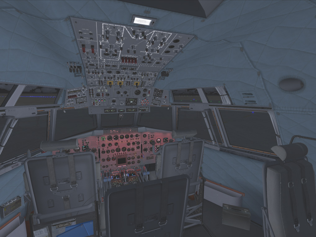 Passenger Seat with Flight Engineer's Lights